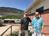 Bob with Phil Johnson in Osoyoos