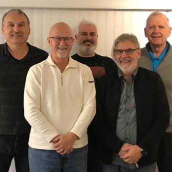 Some Executive Members (Back Row) Matt Dressler, Tim Doling, Harry Bicknell - (Front Row) Bob Krahn, Ken Klassen